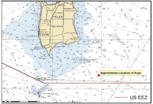 The Argo is located approximately 12 miles north of Sandusky, OH in US waters. Source: NOAA